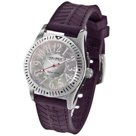 Haurex Purple Promise Watch - Rubber Strap (For Women)