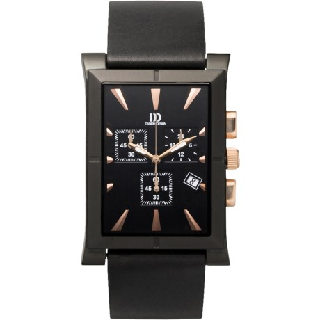 Danish Design Black Ion-Plated Watch - Stainless Steel