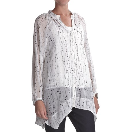 Two Star Dog Francesca Tunic Shirt - Printed Chiffon, Long Sleeve (For Women)