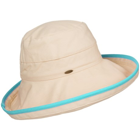 Scala Cotton Canvas Upbrim Hat - UPF 50+ (For Women)
