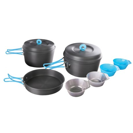 Stansport 4-Person Hard Anodized Aluminum Camp Cook Set