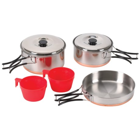 Stansport 2-Person Cook Set - Stainless Steel, Copper