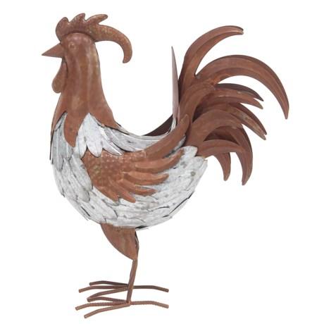 "UMA Metal Rooster Statue - 17"""