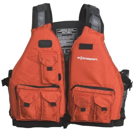 Extrasport Striper Fishing PFD Life Jacket - USCG Approved, Type III
