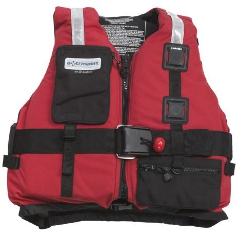 Extrasport Fury PFD Life Jacket - USCG Approved, Type V, PVC-Free