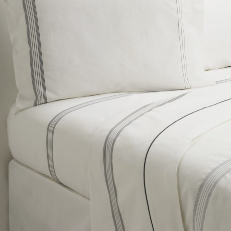 Designers Guild Baratti Flat Sheet - Twin, 200 TC Cotton Percale