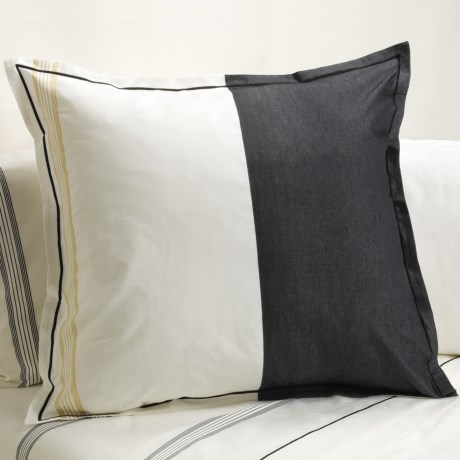 Designers Guild Baratti Euro Pillow Sham - 200 TC Cotton Percale