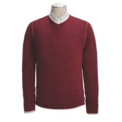 Raffi Merino Wool Sweater - V-Neck, Reversible (For Men)