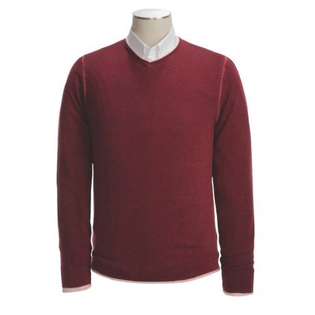 Raffi Merino Wool Sweater - V-Neck, Reversible (For Men)