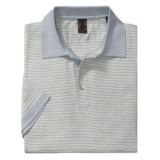 Raffi Luxe Stripe Polo Shirt - Short Sleeve (For Men)