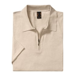 Raffi Luxe Polo Shirt - Zip Neck, Short Sleeve (For Men)