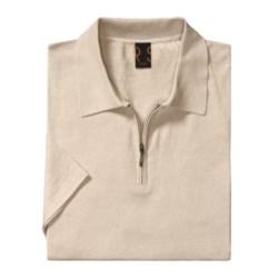 Raffi Luxe Polo Shirt - Zip Neck, Short Sleeve (For Men)