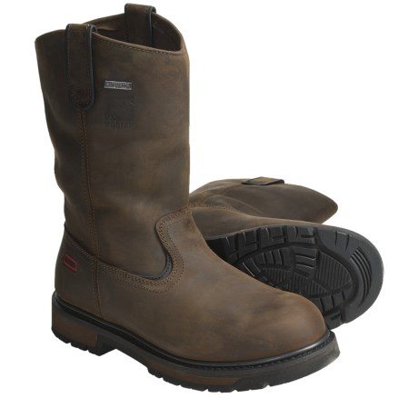 Kodiak Denton Work Boots - Waterproof, Crazy Horse Leather, Pull On (For Men)