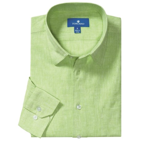 Toscano Linen-Cotton Sport Shirt - Long Sleeve (For Men)