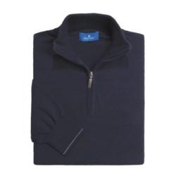 Toscano Mock Neck Sweater - Combed Cotton, Zip Neck (For Men)