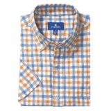 Toscano Plaid Sport Shirt - Linen-Cotton, Short Sleeve (For Men)