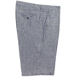 Toscano Brushed Stripe Dress Shorts - Linen (For Men)