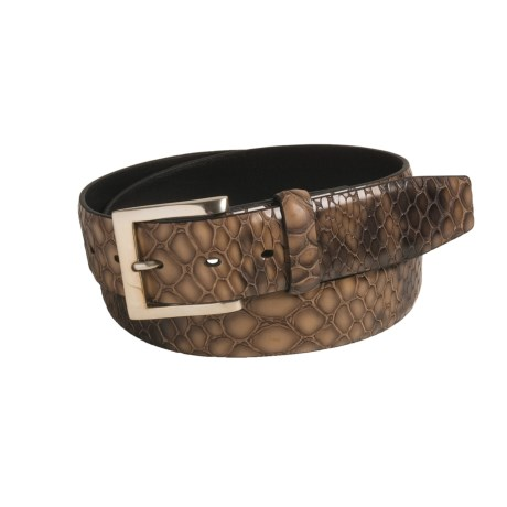Soft Collection by Bill Lavin 3-D Crocodile-Print Belt - Leather (For Men)