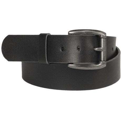 Leather Island by Bill Lavin Curved Buckle Belt - Leather (For Men)