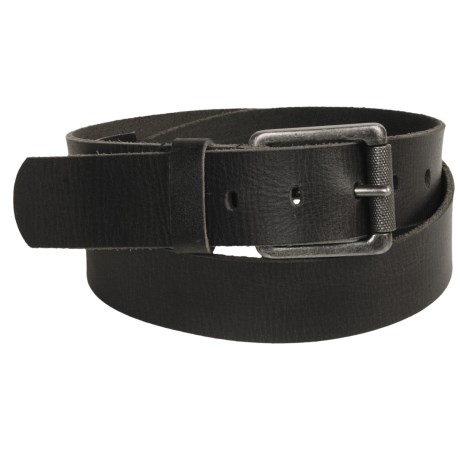 Leather Island by Bill Lavin Square Buckle Belt (For Men)