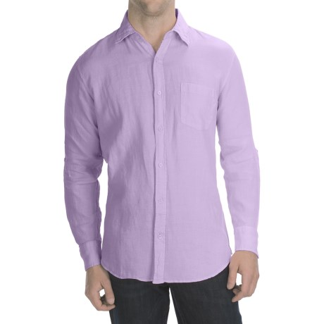 Toscano Garment-Washed Linen Shirt - Long Sleeve (For Men)