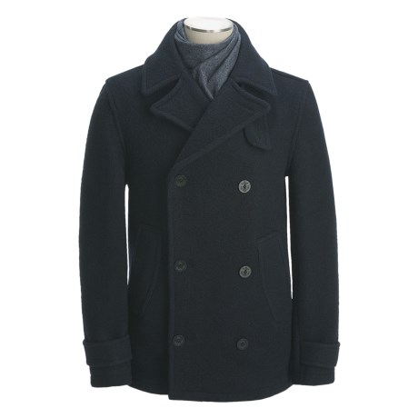 Montgomery by John Partridge Classic Wool Pea Coat (For Men)