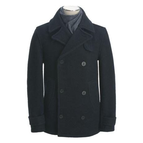 Montgomery by John Partridge Classic Wool Pea Coat (For Men)
