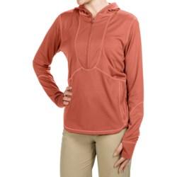 Redington Shasta Hoodie Sweatshirt - UPF 30, Zip Neck (For Women)