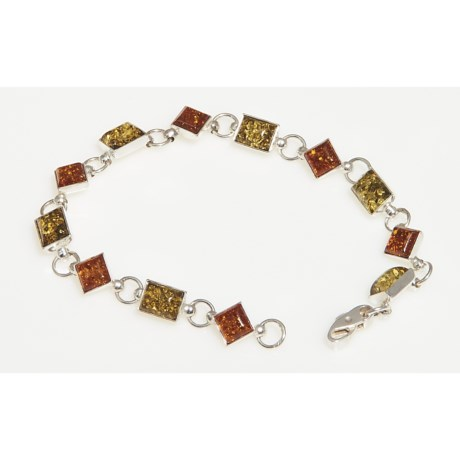 Vessel Baltic Amber Geometric Link Bracelet (For Women)