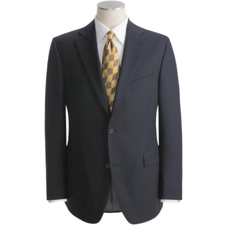 Jack Victor Beaded Tonal Stripe Suit - Wool (For Men)
