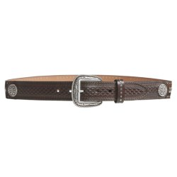 Ariat Silver Bullet Belt - Leather, Silver Buckle (For Men)