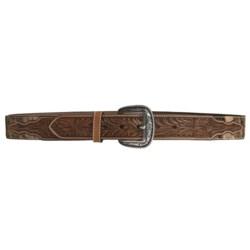 Ariat Western Rowel Belt - Leather, Silver Buckle (For Men)