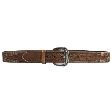 Ariat Western Rowel Belt - Leather, Silver Buckle (For Men)