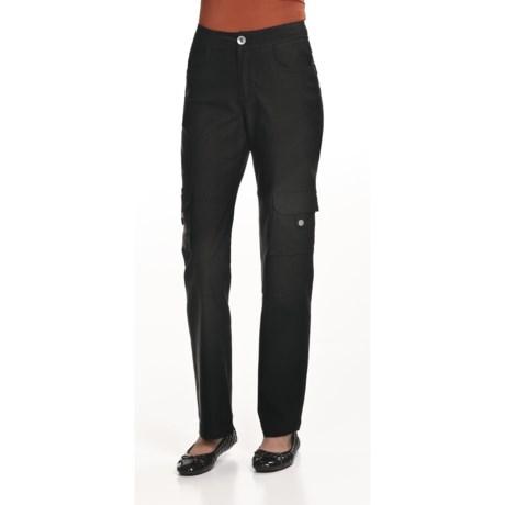 Ethyl Bengaline Cargo Pants - Straight Leg (For Women)