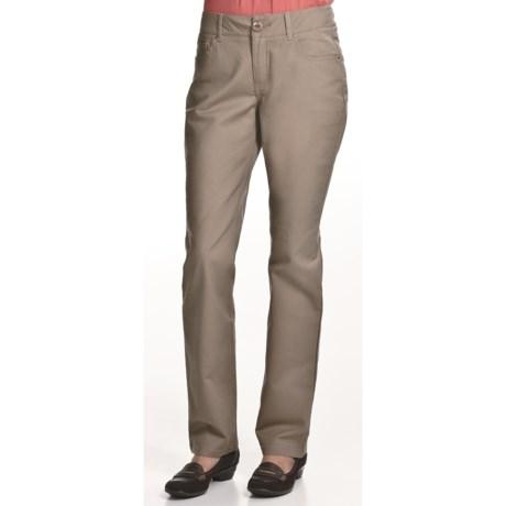 Zenim Cotton Gabardine Skinny Pants - 5-Pocket (For Women)