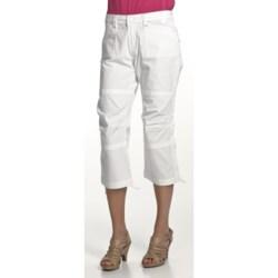 Zenim Ripstop Cotton Capris (For Women)