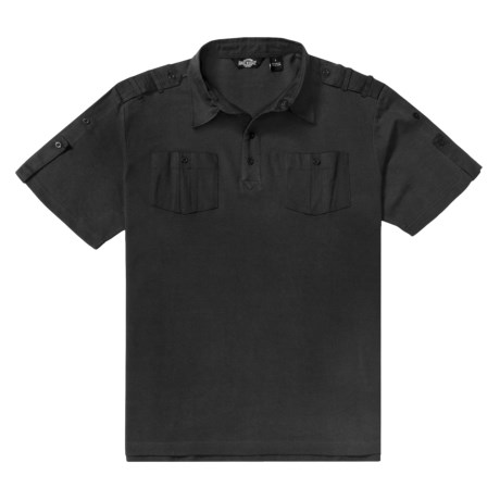Backstage Cotton Polo Shirt - Woven Twill Trim, Short Sleeve (For Men)