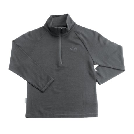 Icebreaker Junior Bodyfit 260 Base Layer Top - Merino Wool, Zip Neck, Long Sleeve (For Toddlers)