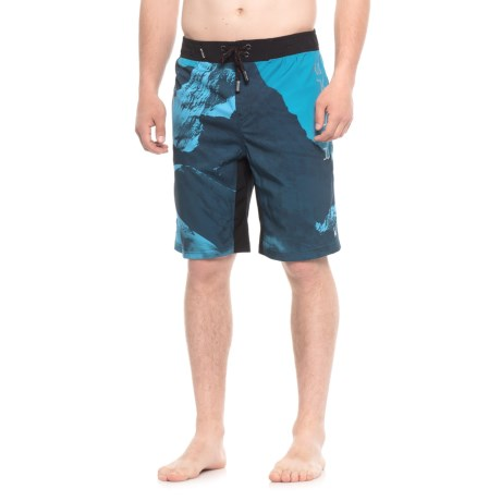 Spyder Mountain Print Boardshorts - Blue (For Men)