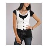 Stetson Stretch Denim Vest - Garment-Washed (For Women)