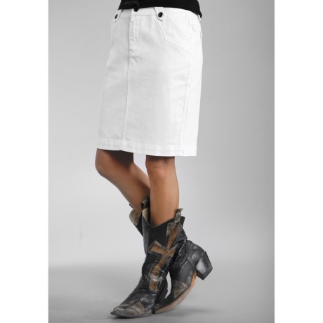 Stetson Pencil Skirt - Garment-Washed Stretch Denim (For Women)
