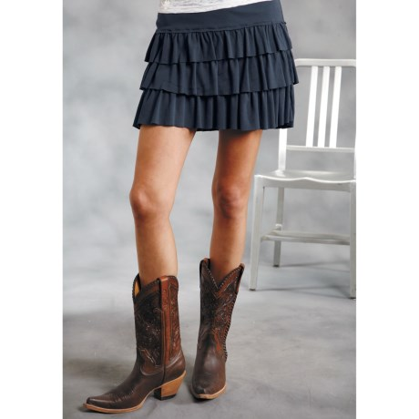 Roper Tiered Ruffled Mini Skirt (For Women)