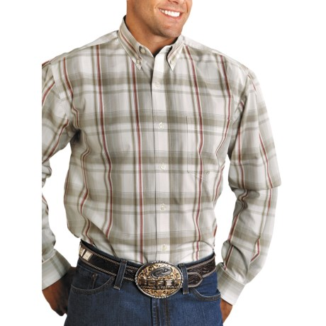Roper Amarillo Plaid Shirt - Button Front, Yarn-Dyed Cotton, Long Sleeve (For Men)