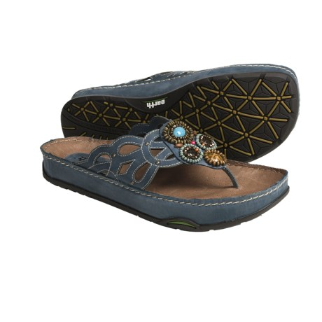 Earth Freesia Thong Sandals - Leather (For Women)