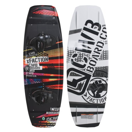 CWB Board Co. XFaction Wakeboard - Vapor Bindings