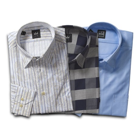 Ike Behar Sport Shirts - 3-Pack Grab Bag, Standard Fit, Long Sleeve (For Men)