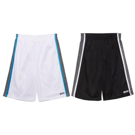 STX Athletic Geometric Lines Shorts - 2-Pack (For Big Boys)