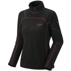 Mountain Hardwear Microgrid Zip Shirt - Long Sleeve (For Women)