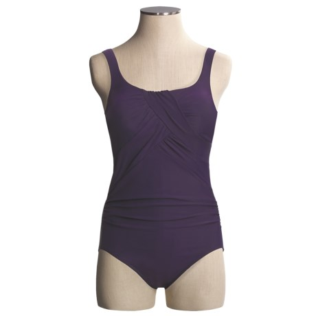Miraclesuit Layered Criss-Cross Swimsuit - Underwire (For Plus Size Women)