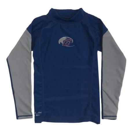 Level Six Slater Rash Guard Shirt - UPF 50+, Long Sleeve (For Boys)